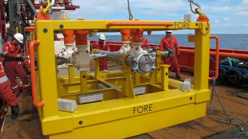 Balder field subsea manifold successfully installed
